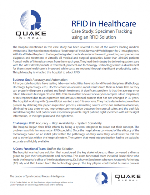 RFID in Healthcare Case Study